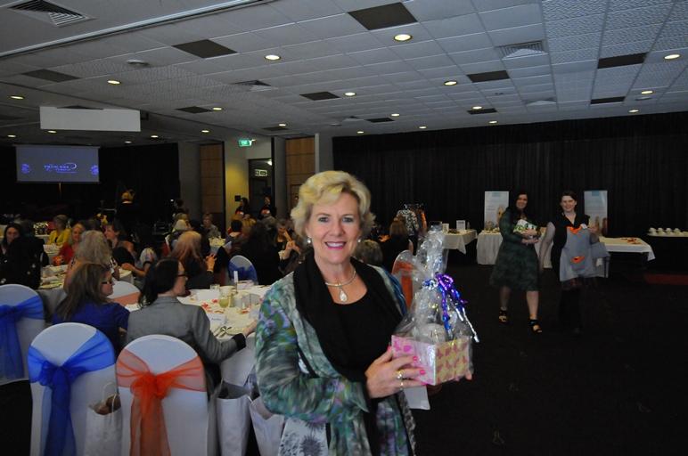 Julie Fidler wins her bundle of goodies at The Princess Pursuit